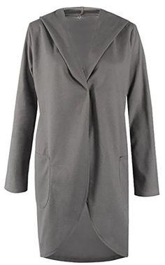 YUNY Womens Slim Thigh-Length Classics Wool Blends Open Front Pea Coat Green L