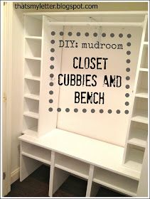 """That's My Letter: """"M"""" is for Mudroom Closet    http://thatsmyletter.blogspot.com   /2012/10/m-is-for-mudroom-closet.html?m=1"""