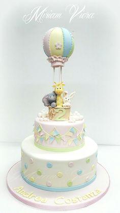 Battesimo cake mongolfiera