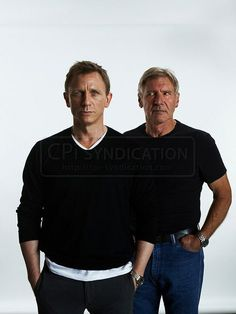 Daniel Craig with Harrison Ford So nice guys!