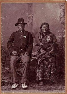 Oglala Tribal police & family circa 1891