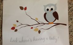 Owl decor for @Melissa Pryce's twins