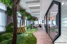 Photos by Sabin Prodan Space Invaders, Welcome To The Jungle, Green Carpet, Take A Break, Bucharest, Office Interiors, Star Trek, Cool Designs, Relax