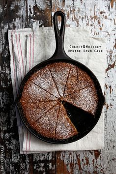 Cherry & Whiskey Upside-Down Cake