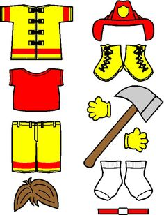 Our Playtime Firefighter Paper Doll is here to take part in lessons about fire safety. Great template for a quiet book page