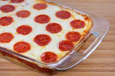Pizza Spaghetti Casserole Recipe | Free Online Recipes | Free Recipes Pizza Spaghetti Casserole, Spaghetti Pizza, Baked Spaghetti, Spaghetti Squash, Supper Recipes, Entree Recipes, Pasta Recipes, Linguine Carbonara, Beef Casserole
