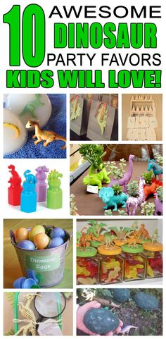 Great dinosaur party favors kids will love. Fun and cool dinosaur birthday party favor ideas for children. Easy goody bags, treat bags, gifts and more for boys and girls. Get the best dinosaur birthday party favors any child would love to take home. Loot bags, loot boxes, goodie bags, dinosaur and more for dinosaur party celebrations.