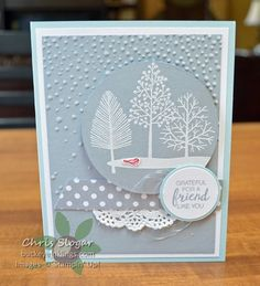 Stampin' Up! Totally Trees for Winter  #SUthailand #stampinup #thailandachieversbloghop