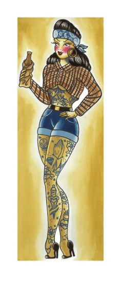 1000 images about tattoo respec 39 on pinterest vanessa for Pin up tattoo flash