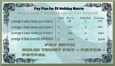 PaySolutions4u is one link TEAM BUILDING for ONLY $5 ! 2x4 matrix for $5 to earn $2700! http://paysolutions4u.com/?paysolutions2