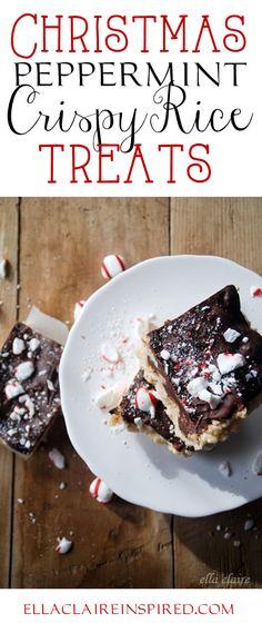 {Ella Claire}: Christmas Peppermint Crispy Rice Treats and Blog Hop!