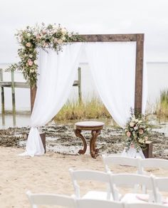 Outer Banks wedding at Grande Ritz Palm event home, obx wedding coordinator, Heart of Harlow