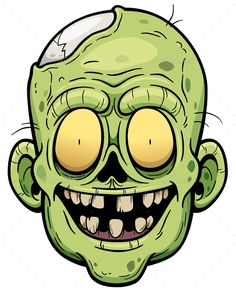 Buy Zombie by SARAROOM on GraphicRiver. Vector illustration of Cartoon Zombie face Zombie Cartoon, Cartoon Clip, Cute Cartoon, Cartoon Faces, Dog Vector, Vector Art, Zombie Face, Desenhos Halloween, Zombie Drawings