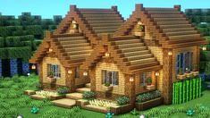 Casa Medieval Minecraft, Cute Minecraft Houses, Minecraft Farm, Minecraft House Tutorials, Minecraft Houses Survival, Minecraft Plans, Amazing Minecraft, Minecraft House Designs, Minecraft Construction