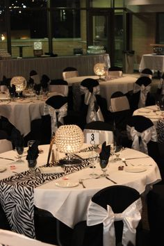 Black, white and zebra decor provided by Aglow Bridal Lounge… Black And White Wedding Theme, Black White Parties, Zebra Wedding, Safari Wedding, Zebra Decor, Creative Party Ideas, Bridal Table, White Decor, Event Decor