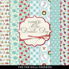 Far Far Hill - Free database of digital illustrations and papers: New Freebies Kit of Backgrounds - One December Day...
