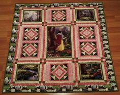 Thomas Kinkade Disney Dreams Snow White quilt.  I bought the kit a number of years ago to make it, and just now getting to it.