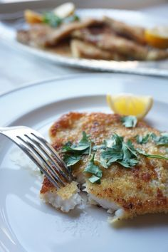 During the week, I like to eat lighter meals. It's great to have an arsenal  of simple, reliable recipes that you can tweak and put your twist on. This  classic recipe uses Dover sole, a flatfish that is prized for its mild,  buttery, sweet flavor and versatility. The classic recipe coats the fish in  seasoned flour, but I've added another step to give it a little more  crispiness. Butter and lemon enhance the natural taste and texture of the  fish. Sole is affordable and pretty hard to mess…