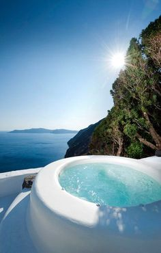 Cob Built Jacuzzi, Stunning Sea View, Hotel, Villa for Rent, Oia, Santorini