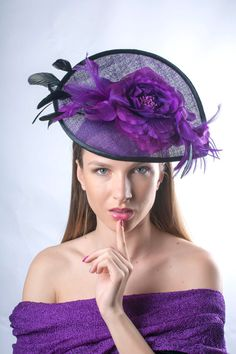 Dreams in purple...by Irina Sardareva Couture Millinery