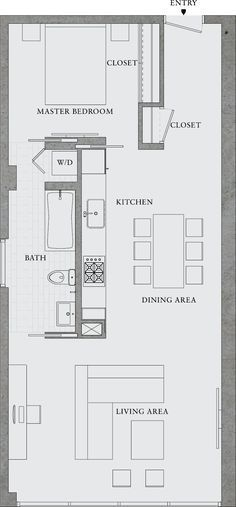 Excellent Image of Small Apartment Plans Layout . Small Apartment Plans Layout Great Simple Design Would Also Make A Great Rental Property 8 Garage Apartments, Small Apartments, Small Spaces, Studio Apartments, Layouts Casa, House Layouts, The Plan, How To Plan, Container Houses