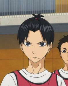 Kageyama. I hate this. Like, I disaprove of that hairstyle on him. Just god no.