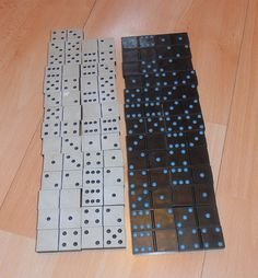 Vintage domino set without box.Domino decors for craft supplies and various art Dinner Party Games, Table Games, Craft Supplies, Black And White, Box, Crafts, Vintage, Decor, Board Games