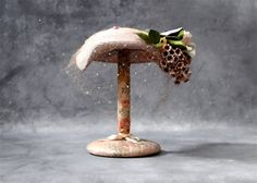 Vintage Hat Stand  Shabby Cottage Chic Peach by SueEllensFlair