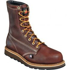 804-4518 Thorogood Men's Wedge Series Safety Boots - Brown www.bootbay.com