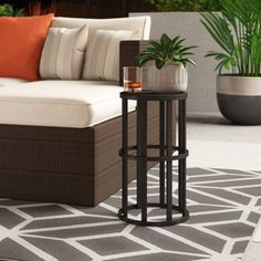 51 Outdoor Side Tables That Will Add Convenience To Your Outdoor Experience Rattan Side Table, Outdoor Side Table, Wooden Side Table, Solid Wood Dining Table, Patio Tables, Wood Buffet, Square Side Table, Glass Side Tables, Concrete