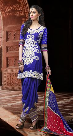 Alluring Royal Blue Salwar Kameez