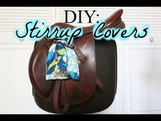 How To Make Fleece Stirrup Covers - YouTube