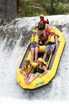 MBA Bali Tour - bali rafting in action Bajing Dam