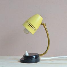 Vintage kleine Nachttischlampe