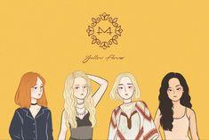Kpop Drawings, Art Drawings, Solar Fan, Dog Comics, Mamamoo Moonbyul, Kpop Posters, Girl And Dog, Kpop Fanart, K Idols