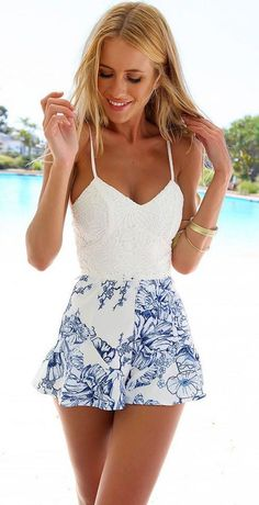 #street #style summer floral lace @wachabuy