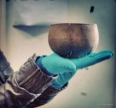 Viking Age wooden bowl from Fishamble Street, Dublin., it's over 1000 years old