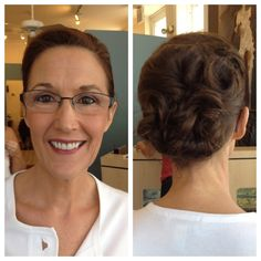 Beautiful Mother of the Bride hair and makeup by Salon St. Louis