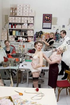Fifi Chachnil inside her atelier ...love this shot!