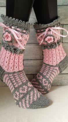 Schmuck Design, Socks, Knitting, Verona, Ideas, Fashion, Light Rose, Grey, Novelty Socks