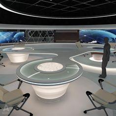 3d model virtual news studio 028