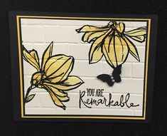 Stampin' Studio, Stampin' Up! You're Remarkable, Brick Wall Embossing Folder