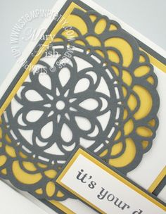 Sneak Preview of Stampin' Up!'s Large Paper Doily Sizzlits Die (available in mini catalog in January)