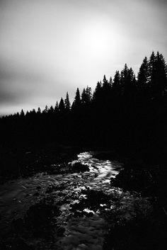 #Boulder Creek in the moonlight.