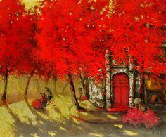 Summer noon by Vietnamese Artist Do Xuan Doan