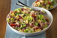 Rustic Reuben Salad recipe looks like a really great salad for st paddys day.