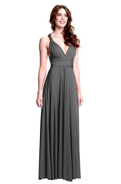 Sakura Long Convertible Dress Charcoal Grey - Long Gown - Convertible Dresses - Shop