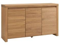 Luna Contemporary Limed Effect Large Sideboard - Mix of American Oak and Oak veneers £675.00