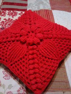 Mi almohadón crochet ❤