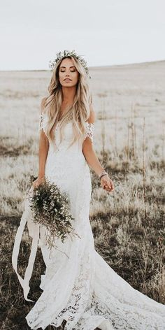 Wedding Dresses Vintage Dreams from the make boho wedding gowns.Wedding Dresses Vintage Dreams from the make boho wedding gowns Country Wedding Dresses, Wedding Dress Trends, Boho Wedding Dress, Dream Wedding Dresses, Bridal Dresses, Wedding Lace, Wedding Shoes, Evening Dresses For Weddings, Country Weddings